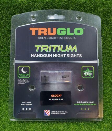 TruGlo Tritium Night Sights Green Front/Rear Fits Glock 42/43/43X/48 - TG231G1A