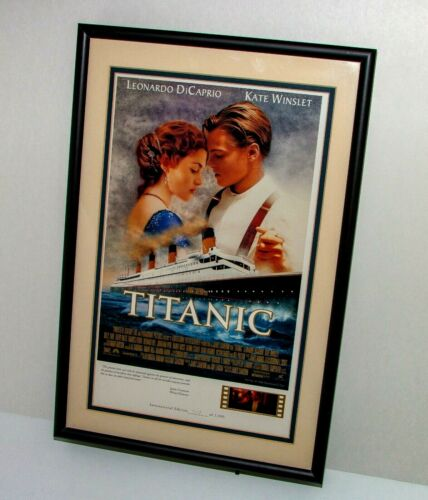 Titanic Framed LITHOGRAPH with Lighted Film Cell~Ltd Edition #719/2500~1998~COA