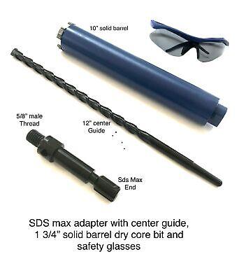 1 34 Core Bit Fits Hilti Bosch Dewalt Sds Max Adapter 4 Hammer Drill W Pilot