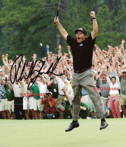 PHIL MICKELSON SIGNED 2004 MASTERS GOLF CHAMPION 8x10 REPRINT PHOTO RP