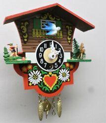 MINT IN BOX GERMAN BLACK FOREST FLYING BIRD JOSEF ENGSTLER WOOD WALL CLOCK!