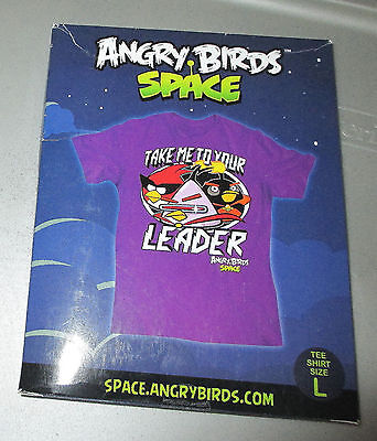 Angry Birds - Space - Take Me To Your Leader Size Large T-Shirt ~ NEW IN BOX