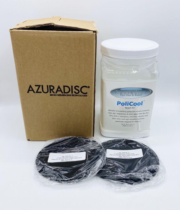 Azuradisc Policool 3.2 Disc Care & Repair With 2 Polishing Pads 52 fl Oz NEW