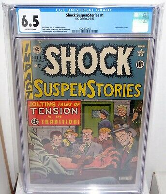 Shock SuspenStories #1 EC Comic CGC Universal Grade 6.5 Classic Electrocution