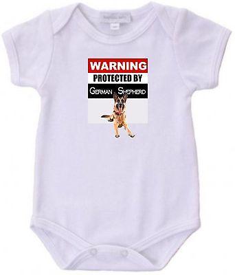 Baby Shepherd (Protected by German Shepherd Baby Bodysuit Cute New Gift Choose Size &)
