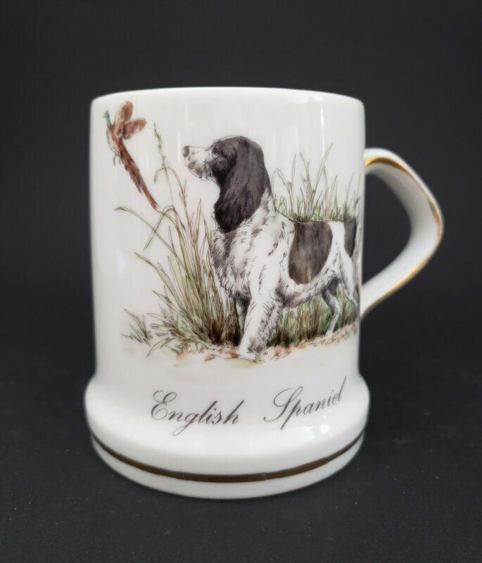 Porcelain Mug with Springer Spaniel and Pheasant