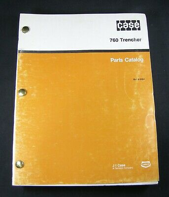 Case 760 Trencher Tractor Backhoe Plow Boring Parts Manual Book Catalog 8-3004