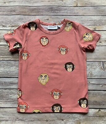 Mini Rodini Monkeys T-Shirt, 104-110 Cm