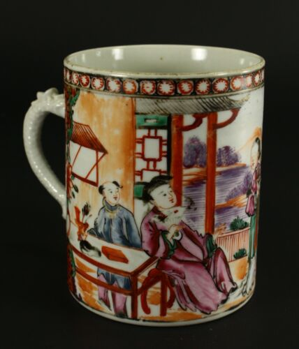 =1735-1796 QIANLONG Qing Chinese Fine Mandarin Porcelain Mug Wise Men Landscape