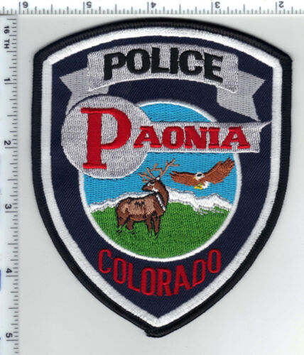 Paonia Police (Colorado) Shoulder Patch - new from the 1990