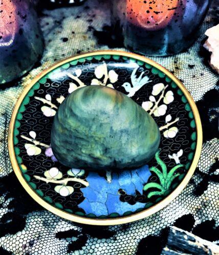 Spirited Hand Polish Ocean Raw Jasper Agate Crystal Green Heart Swirl Fire Stone