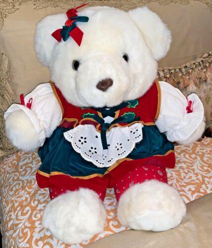 "Walmart Snowflake Teddy Bear 20"" Plush Girl Doll 1995"