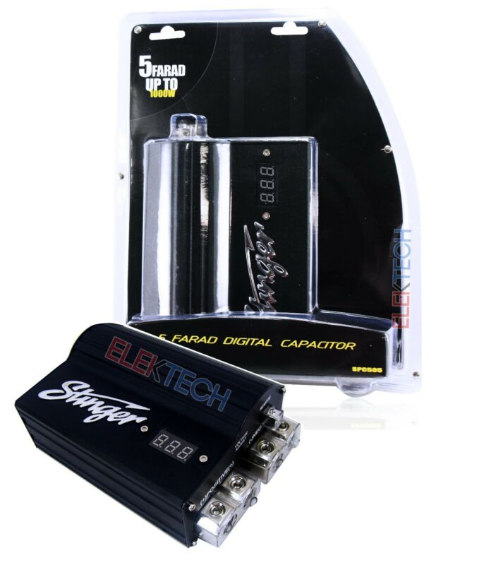 Stinger SPC505 Digital Led Capacitor 5 Farad Power Pro Hybrid Car Audio SPC-505