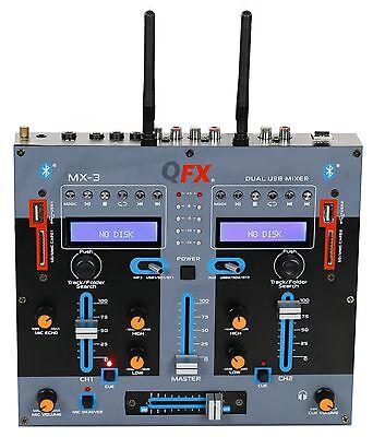 Qfx Mx 3 Professional 2 Channel  Dj Mixer W Dual Bluetooth Usb Sd Input