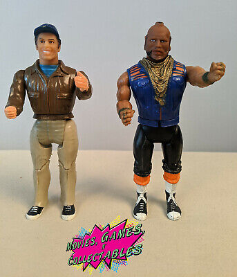 "THE A TEAM Vintage 6"" Figures Murdock & B.A. 1983 Galoob Cannell GOOD CONDITION"