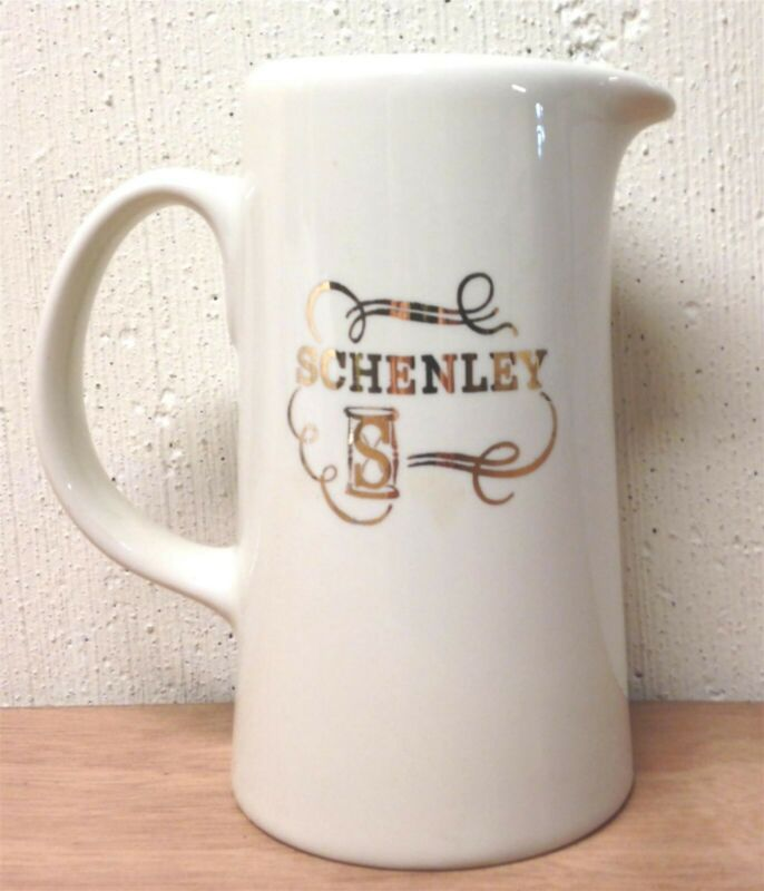 Schenley Whiskey Vintage Advertising Pitcher Bar Ware Hall China Co. ~ Mint