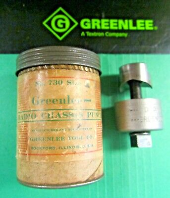 Greenlee Radio Chassis Punch 1 Preownednever Used Great Conditionfast Ship