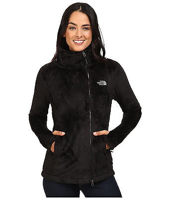 The North Face Fleece Parka - New Womens The North Face Ladies Osito Parka Fleece Jacket Black Red Grey