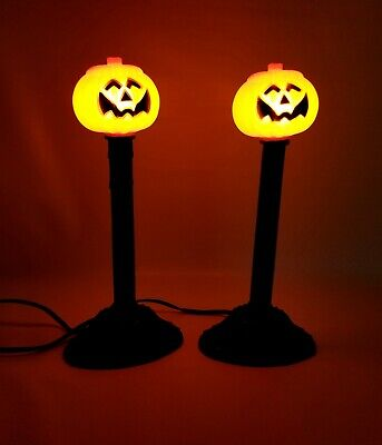 VTG/1989 Atico Plastic Blow Mold Light Halloween Jack O Lantern Pumpkin Candles
