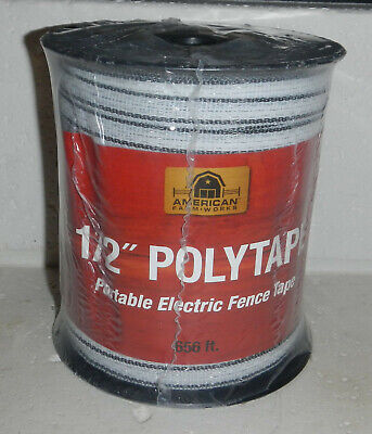 American Farmworks 12 Polytape Portable Electric Fence Tape 656 Pt656wh-afw