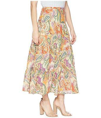 NEW Chaps Womens Crinkle Maxi Skirt Cotton Tiered Tie Dye Blue S 4 L XL PL $79 (Cotton Tie Dye Skirt)