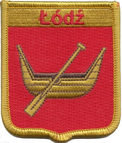 Poland Łódź City Coat of Arms Shield Embroidered Patch LAST FEW