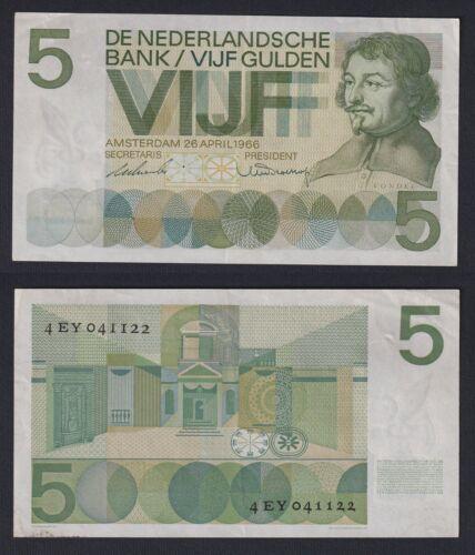Hollande 5 Gulden 1966 Spl / XF C-09