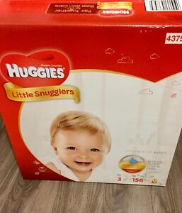 Unopened box of Size 3 Huggies Little Snugglers