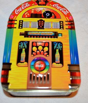 COCA COLA NOSTALGIC EMBOSED JUKEBOX TIN - Always Rockin - 1999 - EXCELLENT COND.