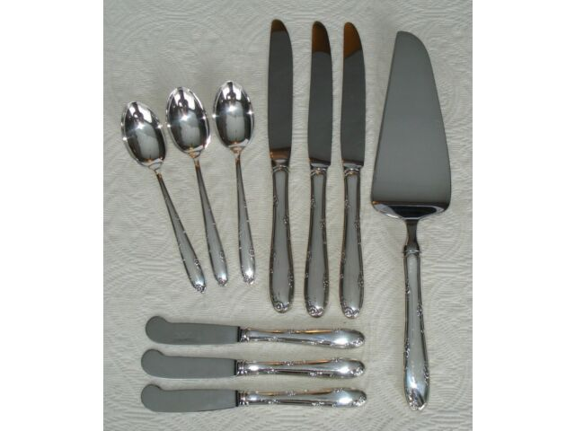 Towle Madeira Sterling Silver Flatware Dessert Butter Spoon Knives Pie 508 grams