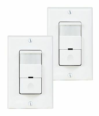 2 Pack Pir Motion Sensor Light Switch Detector Infrared Wall Occupancy White