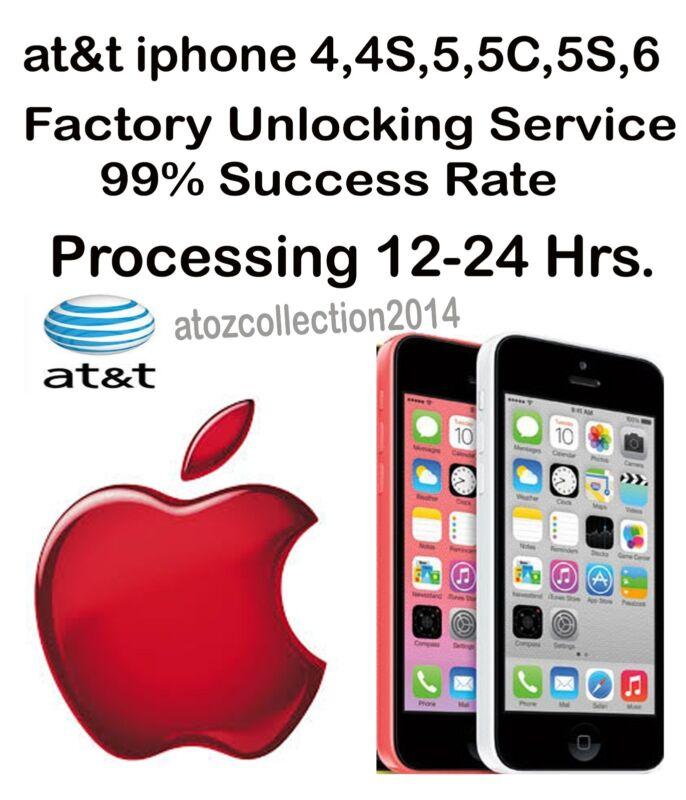 AT&T USA IPHONE 8 7 6S 6+ 6 5C 5S 4C 4S 3GS 3G Factory unlock clean imei service
