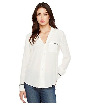 NWT Equipment Keira Silk Shirt Nature White (Ivory) Size S $218