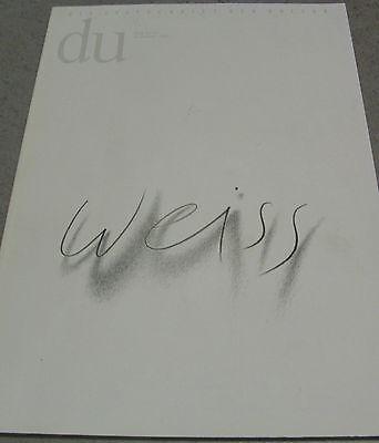 du Heft Nummer 586 WEISS Der Raum des Intellektuellen 12/1989 Zeitschrift Kultur