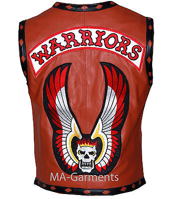 The Warriors Movie Leather Vest Biker Jacket Halloween Costume - Top Quality