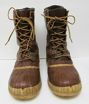 KAUFMAN CANADA Snow Boots  Leather Rubber Wool Liner Distressed -No Size 9.5 (?)