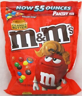 Giant Chocolate Peanut (M&Ms Peanut Butter Candy 55 oz Jumbo Bag M&M's M & M Chocolate Candies Bulk)