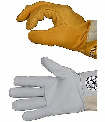Top: Humble Bee 111 Cow Leather Beekeeping Gloves Bottom: Humble Bee 110 Goat Leather Beekeeping Gloves