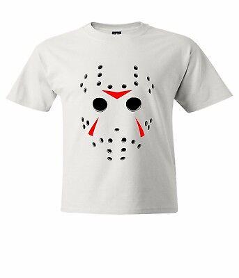 Jason Voorhees Horror Hockey Mask Halloween Men / Unisex Crew Neck T-Shirt Tee