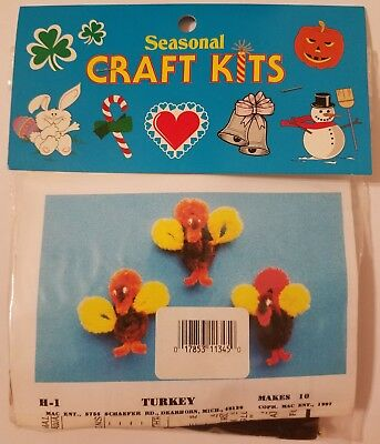 Thanksgiving Craft For Kids (Turkey Thanksgiving Seasonal Kids' Felt Group Craft Project Kit Mac Enterprises)