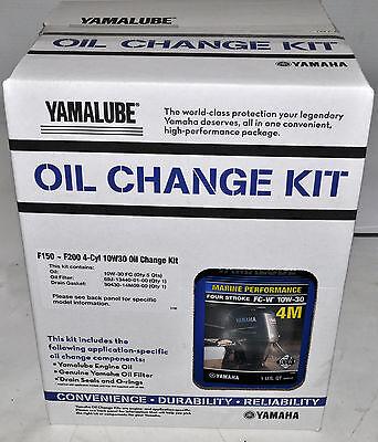 Yamalube® Outboard Oil Change Kits F150 ~ F200 4-Cyl 10W-30 Oil