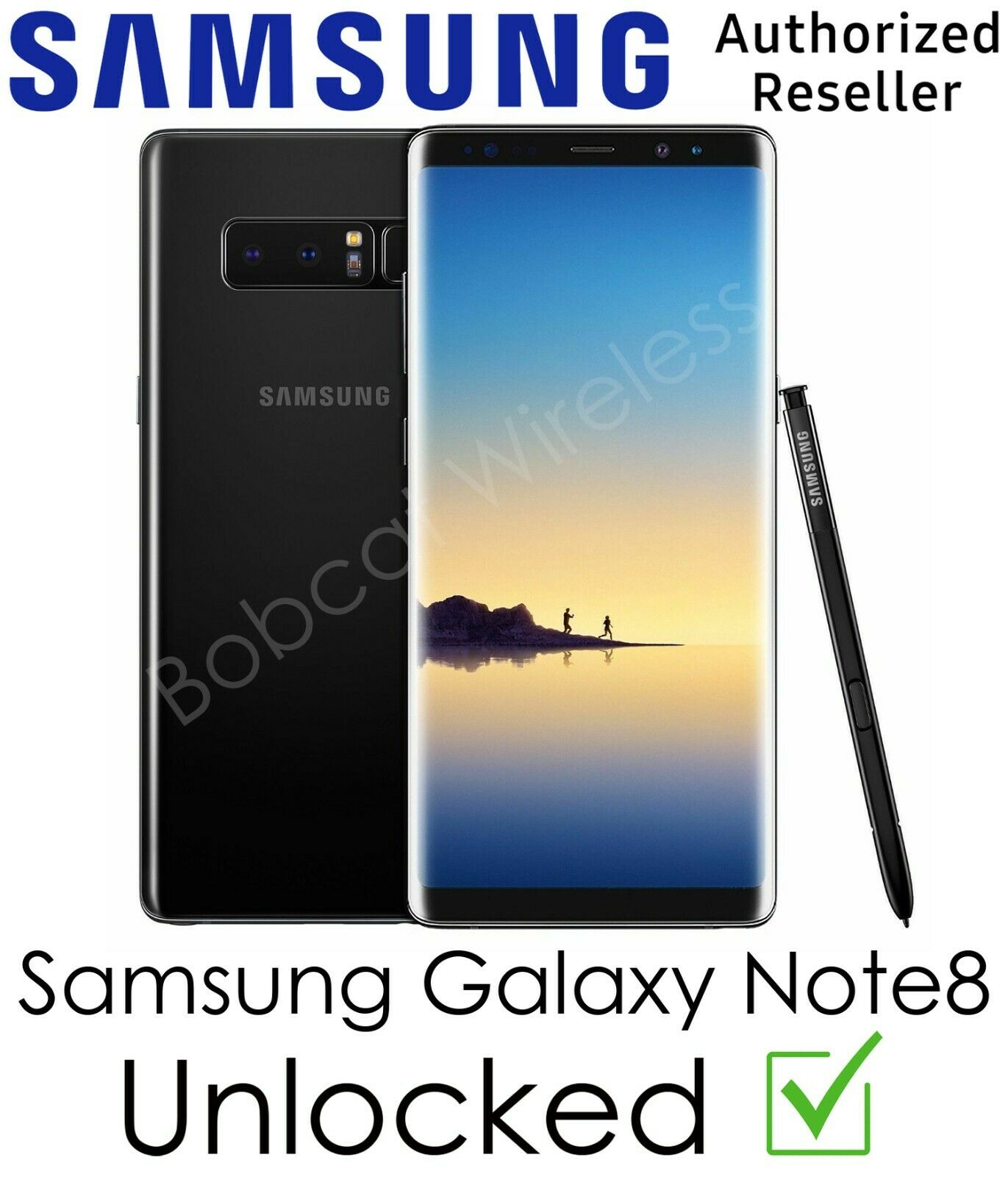Android Phone - Samsung Galaxy Note8 N950U Black Sprint AT&T T-Mobile Verizon Carrier Unlocked
