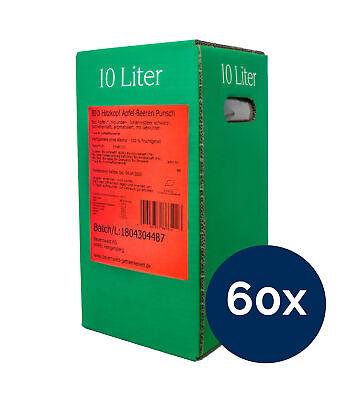 Bio Hitzkopf Apfel-Beeren Punsch alkoholfrei 60x10l Bag-in Box
