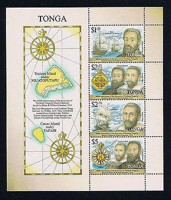 Tonga - 2016 400th Anniversary of Dutch Explorers Postage Souvenir Sheet