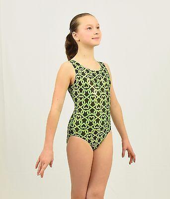 35f5510c71dc Friends Lock Hearts Gymnastics Leotard Intermediate Child(7-8YEARS)  green/black