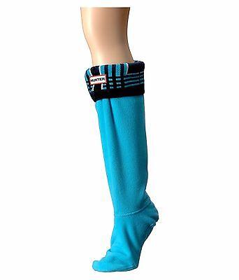 Hunter Original Tall Tartan Boot Socks in Blue Sky/Bright Navy, Sz:L NWT/Boxed - Plaid Hunter Boots