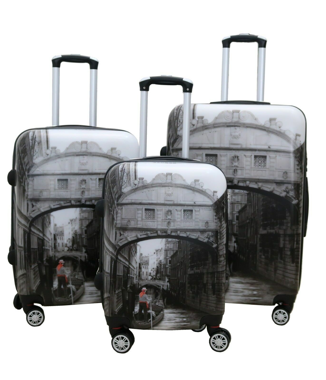 Zota 3 Piece Traveler Hardside Upright Luggage Sets