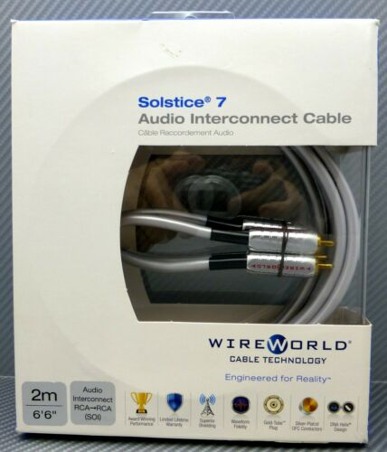 WireWorld Solstice 7 Audio Interconnect cables 2 meter pair
