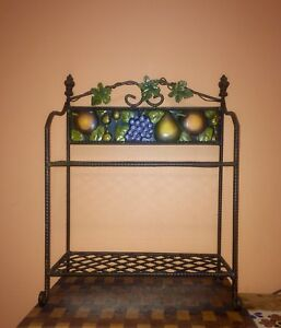 Wrought iron kitchen stand.