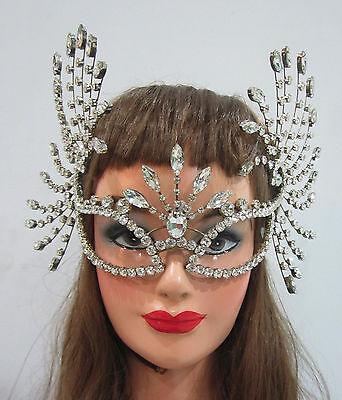 Da NeeNa J076 Burlesque Vegas Angel Batgirl Catwoman Batwoman Crystal Mask